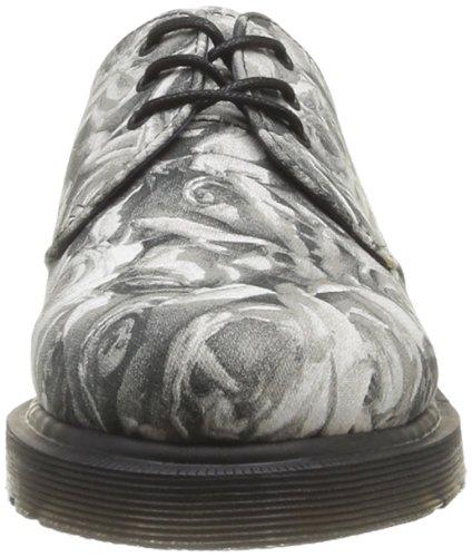 Dr. Martens 1461 Lester Canvas, Scarpe basse, Unisex - adulto Black/Grey