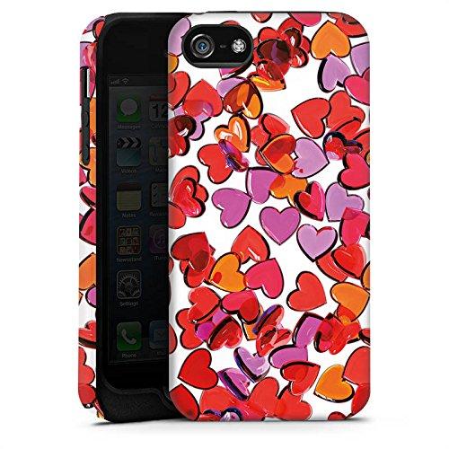 Apple iPhone X Silikon Hülle Case Schutzhülle Liebe Herz Muster Tough Case matt