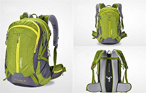 Bergsteigerbeutel-Rucksackbeutel wasserdichten Outdoor-kampierenden Rucksack Tasche Männer und Frauen 40L50L Army Green