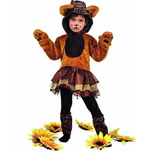 Leopard mit Tutu, für Kinder, Gr. M (mb680) (Leopard Kapuze Und Handschuhe Kinder Kostüme)