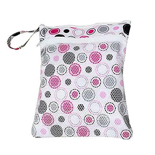 jooneng Baby Windel Wet/Dry Bag Travel waschbar wiederverwendbare Windeln Staubbeutel Tuch Reißverschluss Taschen