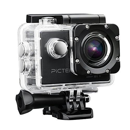 Pictek Cámara Deportiva Sumergible 1080P, Cámara Fotográfica con Wifi FHD...