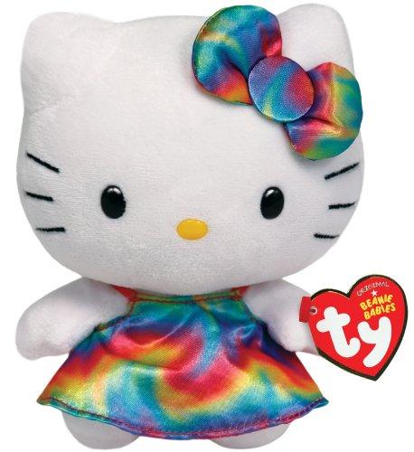 TY 90148 - Plüschtier Hello Kitty Large mit Regenbogenkleid