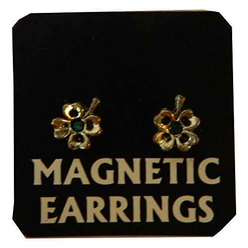 Magnetische Ohrringe Kleeblatt Ohrring Paar Ohrschmuck Modeschmuck Accessoire