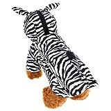 mogoko mascota ropa para perro gato pequeño perro disfraz de terciopelo diseño de cebra abrigo con capucha mono para Festival Fiesta de Navidad Halloween Cosplay o uso diario
