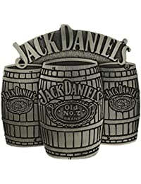 Officially Licensed Jack Daniel's Three Barrels Belt Buckle in one of my Presentation Boxes. 7680