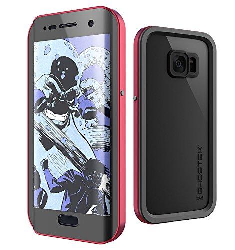 Galaxy S7 Edge Waterproof Case, Ghostek Atomic 2.0 Series for Samsung Galaxy S7 Edge (Red)