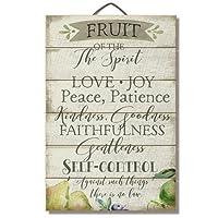 "Merle11Eleanor Fruit of the Spirit 12"" x 18"" Wood Slatted Sign"