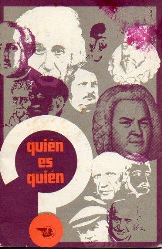 QUIÉN ES QUIÉN. 1969. Arquitectura. Cine y Teatro. Escultura. Müsica. Pintura.