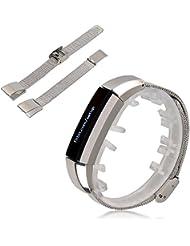 iFeeker - Correa de repuesto para pulsera Fitbit Alta, metal, acero inoxidable, 3 colores diferentes