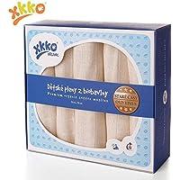xkko trapos para bebé muselina de 70 x 70 cm Bio-Algodón 5er-juego de colour beige