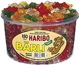 Haribo Bärli - große Gummibärchen - Fruchtgummi, 150 Stück