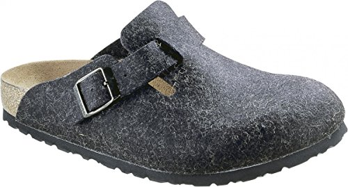 Birkenstock Classic Boston Wolle Unisex-Erwachsene Clogs Anthracite