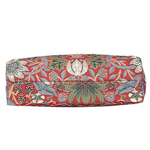 Borsa donna Signare in tessuto stile arazzo Pieghevoli Shopping alla moda Westie Strawberry Thief Red