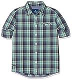 TOM TAILOR Kids Jungen Hemd Shirt/Blouse Checked/Printed 1/1, Grün (Lucite Green 7460), 104 (Herstellergröße: 104/110)