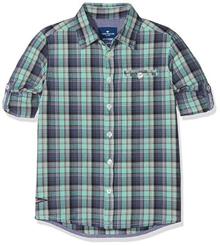 TOM TAILOR Kids Jungen Hemd Shirt/Blouse Checked/Printed 1/1, Grün (Lucite Green 7460), 116 (Herstellergröße: 116/122)