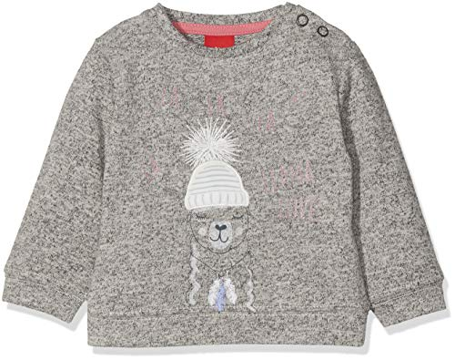 s.Oliver Baby-Mädchen 65.809.41.8245 Sweatshirt, Grau (Metallic Melange 00w6), 92 Metallic-print-sweatshirt
