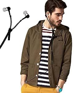 Zipper Style 3.5mm In Ear Bud Earphones Headset Handsfree Compatible For Xolo Era X -Black