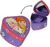 Unbekannt Schmuckkasten - mit Spiegel -  Disney die Eiskönigin - Frozen  - Herz Form - Mädchen - Utensilo - Kinderzimmer - z.B. für Schmuck - Schmuckkästchen / Schmuc..