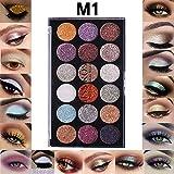 Yazidan 18 Farbs Glitter-Lidschatten-Pulver-Glitter-Lidschatten-Kosmetik Lidschatten Diamant Regenbogen Make up Kosmetik Augenschatten Palette Eye Shadow Palette Professionelles Makeup