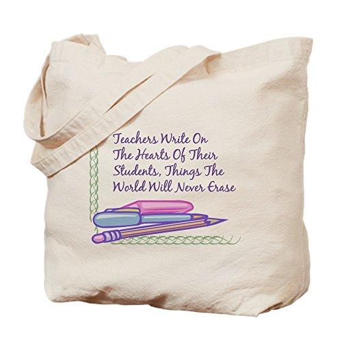CafePress–Lehrer Schreiben auf die Herzen.–Leinwand Natur Tasche, Tuch Einkaufstasche S khaki Stundenplan Für Studenten