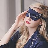 Seide Schlaf Augenmaske, Doppelseitig glättender Maulbeerseiden Eyeshade, Justierbarer Bügel, sexy Fox-Katze für Reise, Entspannen Sie Sich, Nickerchen, Modische Frauen, Männer