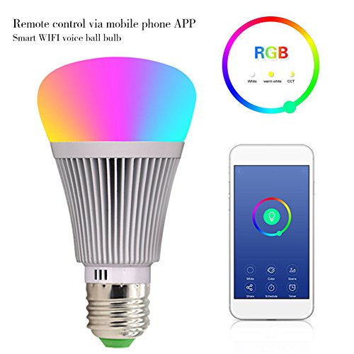 Molie Smart Lampe 7W RGB Glühbirne Led Wifi Lampen Dimmbar E27 Wlan Lampe mit Amazon Alexa,Google Home,Steuerbar via App - 3