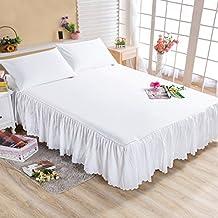 ZYBCQL Falda de Cama Protector Simple Colcha Solo Dormitorio Anti-ensuciamiento Agua-D 180x200cm