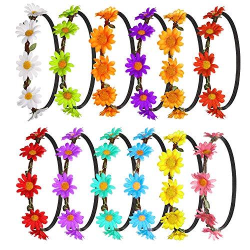 FEPITO 12Pcs Flower Headband Gar...