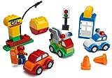 Play Build Car Creator Bausteine ??Set - 52 Stück - Enthält Mechanic Minifigure, Garage Zubehör & Base Parts, Um Ein Polizeiauto, Öl Rig, Tow Truck & More - Kompatibel mit Lego Duplo