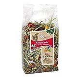 nanook Hansepet 5x Kaninchen-Futter Gräser, aromatische Kräuter, getreidefrei, Natur Mix, 500g