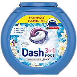 Dash 3 en 1 Pods Fleurs de Lotus Lessive Capsules 47 Lavages - Lot de 3