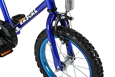 Sonic Rascal Kids' Kids Bike Blue 1 speed colour cordinated spoked wheels fully enclosed chainguard and easy reach brakes by Sonic