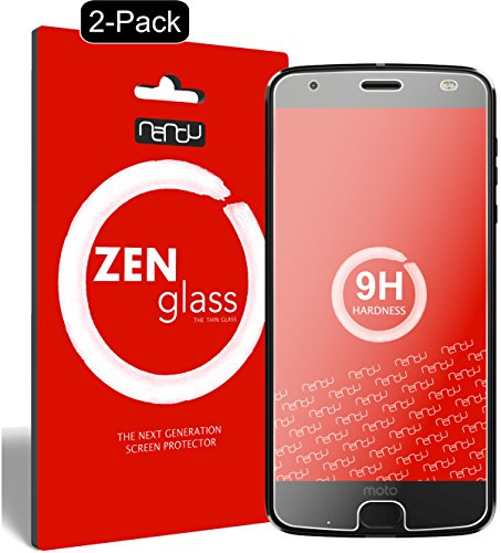 nandu I ZenGlass [2 Stück] Flexible Glas-Folie für Lenovo Moto Z2 Play Panzerfolie I Bildschirm-Schutzfolie 9H I (Kleiner Als Das Gewölbte Bildschirm)