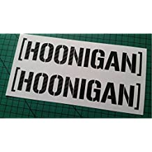 Hoonigan Ken Block Pairs Carbon Fibre Effect Vinyl Car Sticker Decal Small to Large Sizes 100mm x 20mm