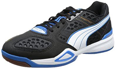 Puma  Agilio, Chaussures indoor homme - Noir - Schwarz (black-white-brilliant blue 01), 37.5 EU