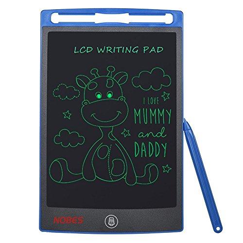 NOBES Tableta de Escritura LCD 8.5 Inch, LCD Tablero de Dibujo Gráfica Pizarra Magica de Mensaje Memo Pad Electrónico con Lápiz Regalos para Niños,Clase,Oficina,Casa,Cocina (8.5 Inch, Azul)