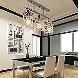 OOFAY LIGHT® 3 luz colgante cristal lineales con accesorio de Metal sólido, moderno Plafones de montaje al ras-de entrada, comedor, dormitorio