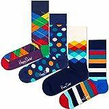 4 Paar - Happy Socks - Mix Geschenkbox - XMIX09 - Damen und Herren-Socken (41-46)