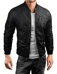 Grin&Bear coup slim veste en cuir faux homme cardigan pull, AK30