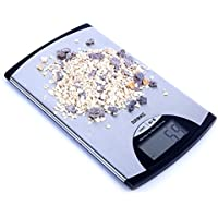 Duronic KS760 - Bilancia da cucina sottile, in acciaio inox, display digitale, Portata 5 kg