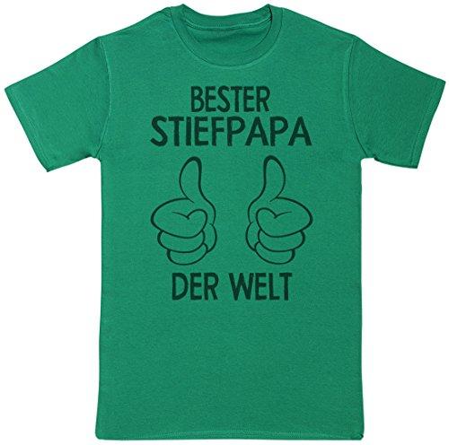 Bester Stiefpapa der welt thumbs - Geschenke für Papa - Vatertag - Vater T Shirt - Herren Männer T-Shirt für Väter Grün