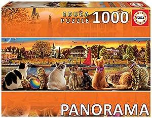 Educa Borras Puzzle Gatos En El Embarcadero Panorama 1000 Piezas (18001)