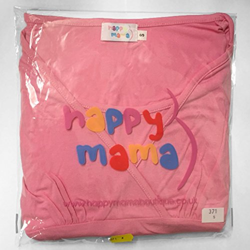 Happy Mama. Damen 2in1 Umstands Still Sweatshirt-Kleid Langen Ärmeln. 299p Schwarz