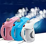 PETRICE Handheld Garment Steamer Iron Fast Heat-up Portable Family Fabric Steam Brush Handy Vapor Facial Steamer for Home and Travel (Colour May vary)