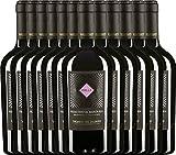 12er Vorteilspaket - Zolla Primitivo di Manduria DOP 2017 - Vigneti del Salento | trockener Rotwein | italienischer Wein aus Apulien | 12 x 0,75 Liter