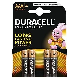 Duracell Plus Power Type AAA Alkaline Batteries, Pack of 4