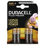 Duracell Plus Power Typ AAA Alkaline Batterien, 4er Pack