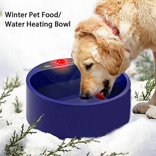 KOBWA Beheizte Pet Bowl, Pet Beheizte Futternapf Konstante Temperatur Wasserfutter Feeder Für Haustier Hunde Katzen Kaninchen Vögel -