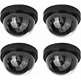 divinext Dummy CCTV Dome Camera with Blinking Red LED light For home or office Security(Pack of 4)